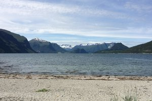 Swimming beach in Romsdal